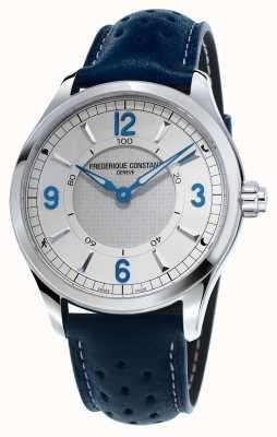 Frederique Constant 男士钟表smartwatch蓝牙蓝色皮表带 FC-282AS5B6