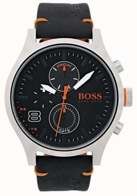 Hugo Boss Orange 男士阿姆斯特丹黑色皮革 1550020
