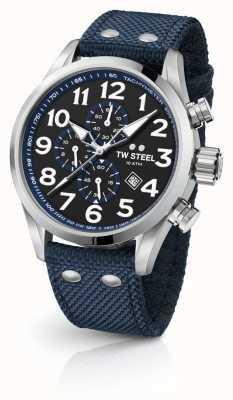 TW Steel 男士挥发蓝色45毫米计时码表 VS33