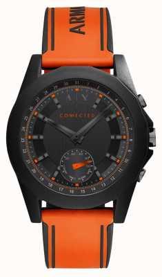 Armani Exchange 连接智能手表橙色硅胶表带 AXT1003
