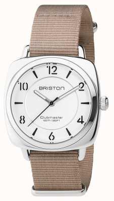 Briston 男女皆宜的clubmaster别致的米色钢与北约表带 17536.S.L.2.NT