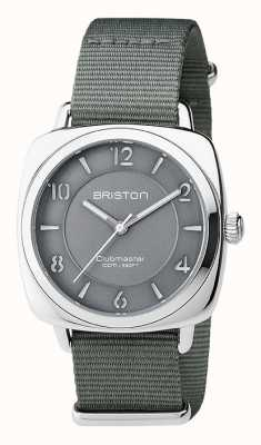 Briston 男女皆宜的clubmaster别致的灰色钢与北约表带 17536.S.L.17.NG