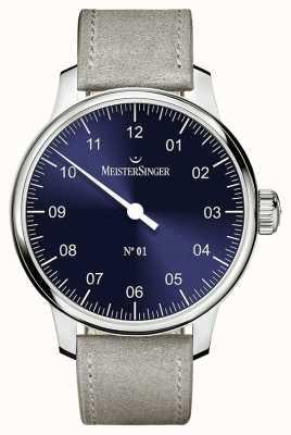 MeisterSinger 男士经典号码。 1只手缠绕着sunburst蓝色 AM3308
