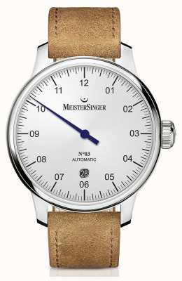 MeisterSinger 男士经典号码。 3个自动40毫米乳白银 DM901
