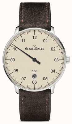 MeisterSinger 男士形式和风格新加自动象牙 NE403