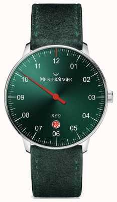MeisterSinger 男装形式和风格新加自动阳光绿色 NE409