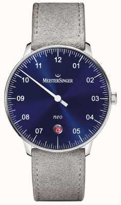 MeisterSinger 男装形式和风格新自动阳光蓝色 NE908N