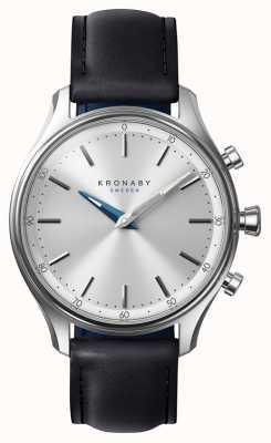 Kronaby 38毫米sekel蓝牙黑色皮革表带a1000-0657 S0657/1