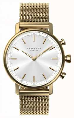 Kronaby 38毫米克拉蓝牙金色网眼带a1000-0716 S0716/1