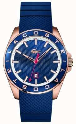 Lacoste 男士西港蓝色橡胶表带 2010906