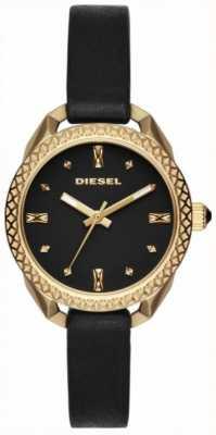 Diesel 女士们美丽的黑色和金色手表 DZ5547