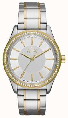 Armani Exchange 女士们nicolette双色调手表 AX5446