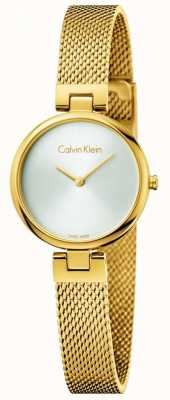 Calvin Klein Womans正品pvd镀金钢网手链 K8G23526