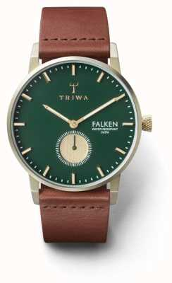 Triwa 男士松棕色真皮绿色表盘 FAST112-CL010217