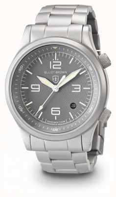 Elliot Brown 男士canford银灰色不锈钢表链 202-018-B06