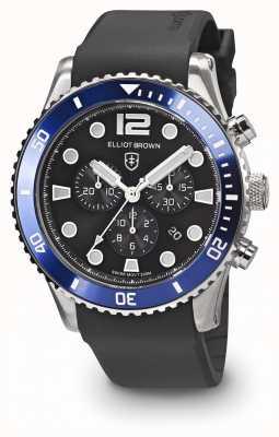 Elliot Brown 男士bloxworth蓝色和黑色黑色橡胶表带 929-012-R01