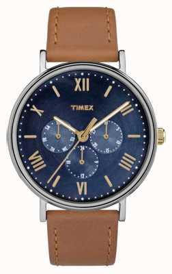 Timex 男士南方多功能计时码表棕色 TW2R29100