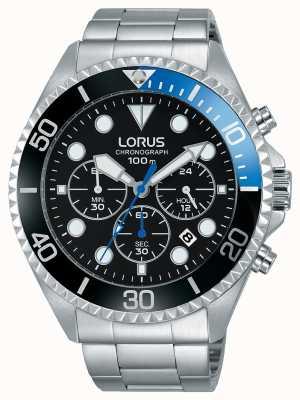 Lorus 男士运动计时不锈钢手镯 RT315GX9
