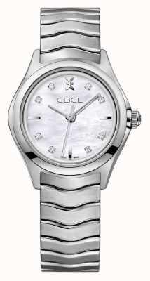EBEL Wave女装钻石镶嵌不锈钢表 1216193