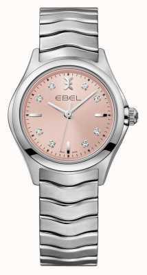 EBEL 波浪女式粉红色表盘不锈钢腕表 1216217