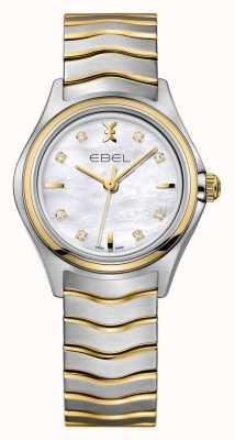 EBEL Wave女式双色手表|银色金表带| 1216197