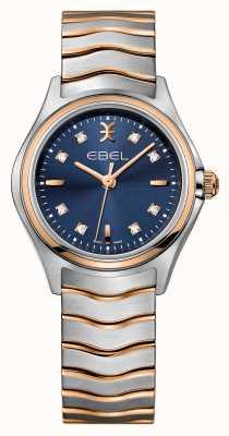 EBEL Wave女装钻石镶嵌双色蓝色表盘 1216379