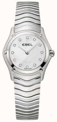 EBEL 经典女式钻石镶嵌不锈钢表 1215421