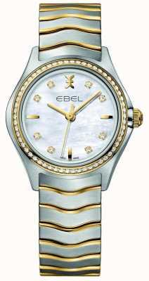 EBEL Wave女士双色钻石镶嵌腕表 1216351
