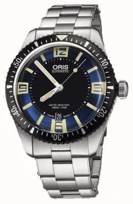 Oris 潜水员六十五个自动不锈钢蓝色表盘 01 733 7707 4035-07 8 20 18