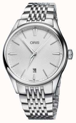 Oris Artelier日期自动不锈钢银色表盘 01 733 7721 4051-07 8 21 79