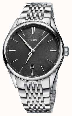 Oris Artelier日期自动不锈钢灰色表盘 01 733 7721 4053-07 8 21 79