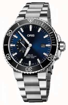 Oris Aquis日期自动不锈钢蓝色表盘 01 743 7733 4135-07 8 24 05PEB
