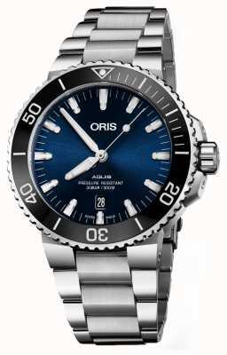 Oris Aquis日期自动不锈钢蓝色表盘 01 733 7730 4135-07 8 24 05PEB