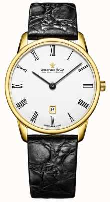Dreyfuss 男士1980皮表带镀金手表 DGS00136/01