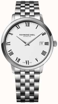 Raymond Weil 男士toccata不锈钢表链白色表盘 5588-ST-00300
