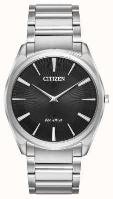 Citizen 男士生态驱动细高跟鞋超薄不锈钢 AR3070-55E