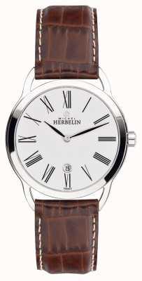 Michel Herbelin 男士equinox棕色表带经典表盘手表 19577/01GO