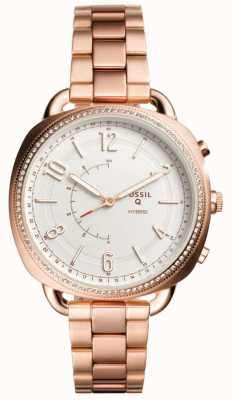 Fossil Q帮同混合智能手表玫瑰金色调 FTW1208