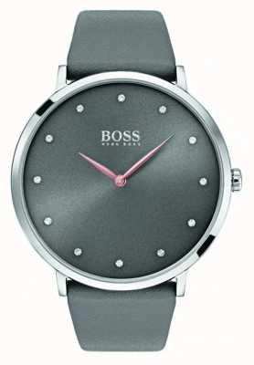 Hugo Boss 女人jillian看灰色皮革 1502413