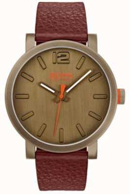 Hugo Boss Orange 男装皮包以棕色观看 1550036