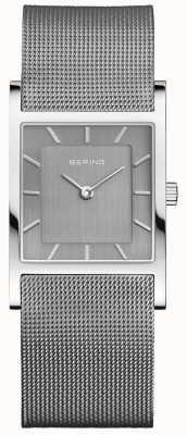 Bering 女人经典方形银米兰丝带 10426-309-S