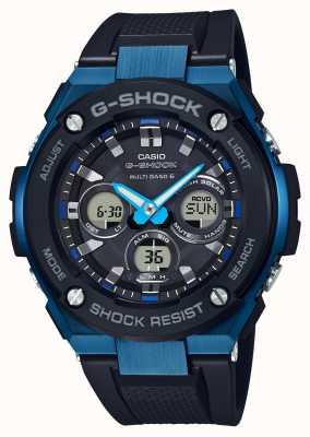 Casio 男士g-shock g-steel强韧太阳能手表蓝色 GST-W300G-1A2ER