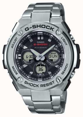 Casio Ex-display男士g-shock g-steel闹钟计时码表不锈钢 GST-W310D-1AER-EXDISPLAY