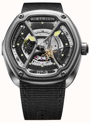 Dietrich 有机时间缎钢表壳黑色织物表带 OT-3