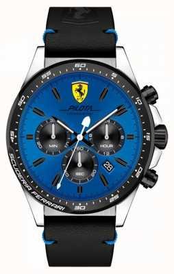 Scuderia Ferrari 男士飞行员蓝色计时表盘 0830388