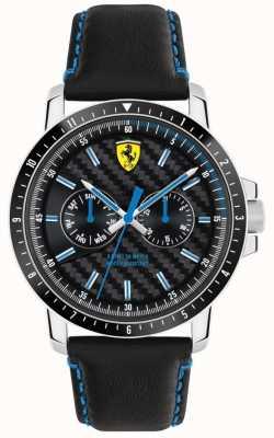 Scuderia Ferrari Turbo黑色皮革表带 0830448
