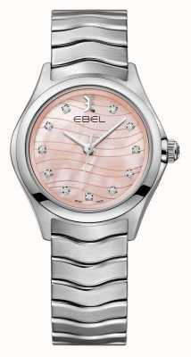 EBEL 女装波浪钻石镶粉色表盘 1216268