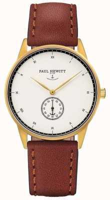 Paul Hewitt 中性签名棕色皮革表带 PH-M1-G-W-1M