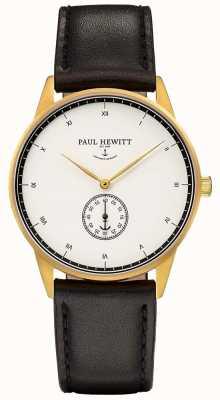 Paul Hewitt 中性签名黑色皮革表带 PH-M1-G-W-2M