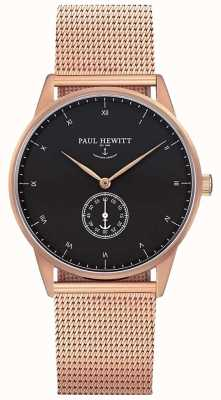 Paul Hewitt 男女皆宜的签名手表|不锈钢网带| PH-M1-R-B-4M